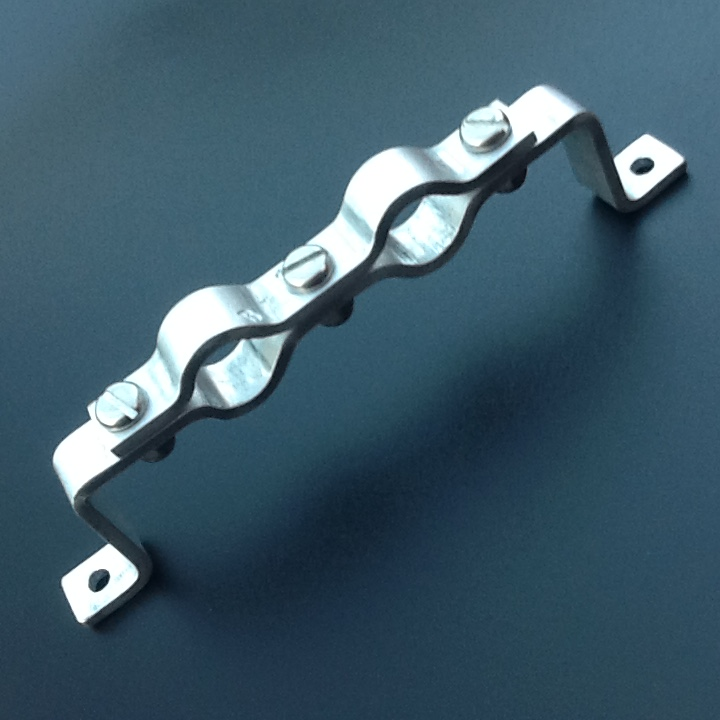 Stand Off Pipe Clamp Bracket Double Pipe Clamp 19mm Diameter