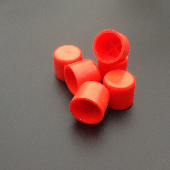 End caps mm id red plastic blanking hose