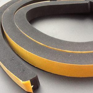 Neoprene Rubber Strip Self-Adhesive 25mm Thick