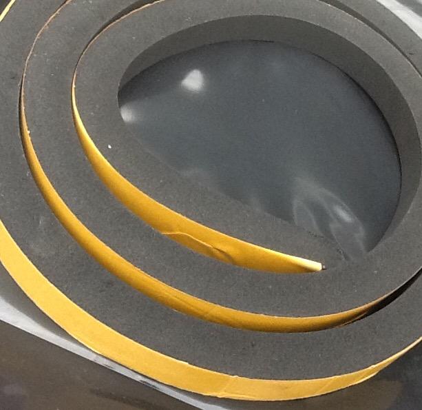 Neoprene rubber strip self adhesive mm thick