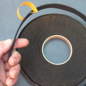 Self Adhesive Rubber Strip Single Sided 15mm Wide X 3.5mm Thick