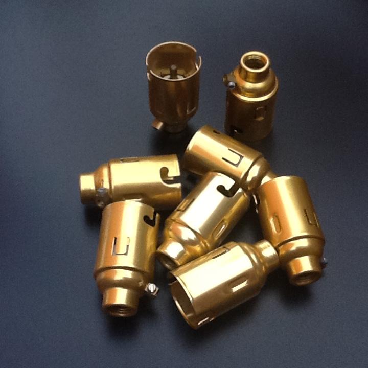 Light Bulb Lamp Holder B22, Copper Pipe Lamp Holder