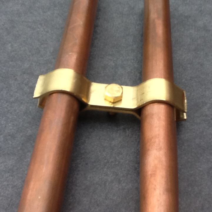 Pipe clamp solid brass mm port diameter tidy clamps