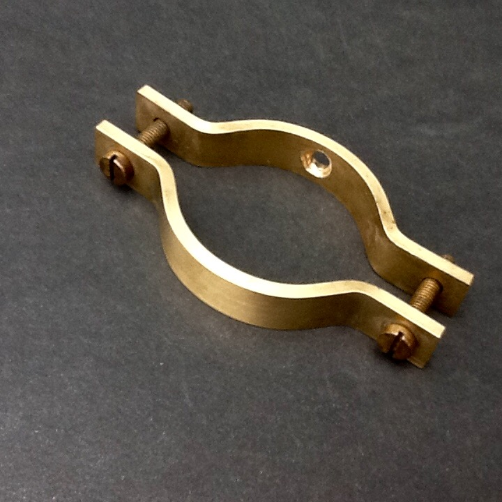 Sink waste pipe wall bracket solid brass clamp brackets