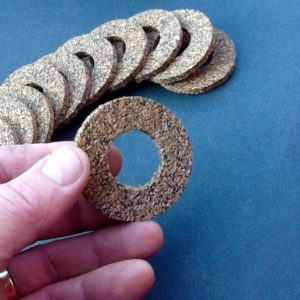 Nitrile Rubber Bonded Cork Washers 4mm Thick