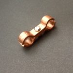 Copper Saddle Clamp Double Ports Spacer Bracket C101 Copper