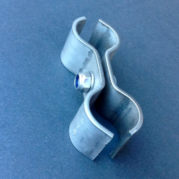 Stainless Steel Double Pipe Clamp Bracket 30mm Diameter
