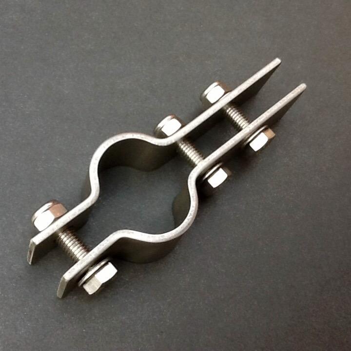 Stainless steel pipe support bracket mm diameter port