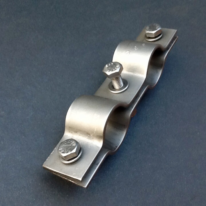 30mm Low Profile//Stainless Smooth Clamp