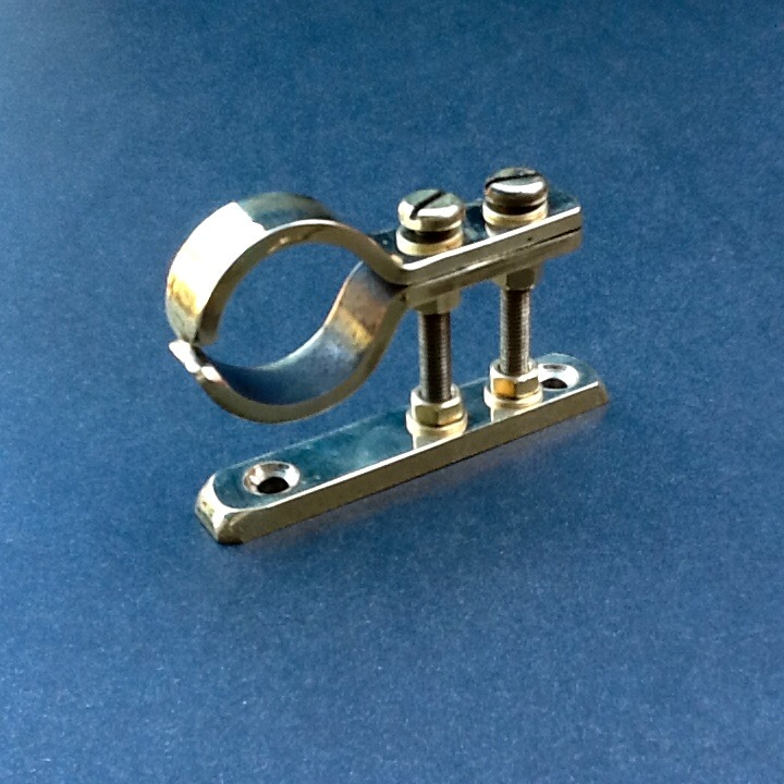 Brass pipe clamping bracket mm diameter port solid