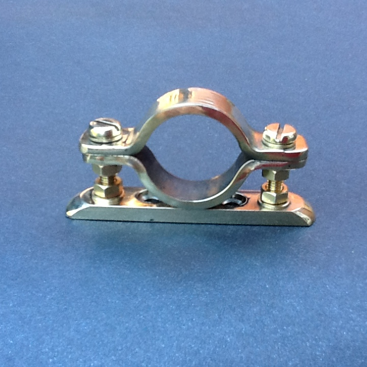 Brass pipe clamp mm diameter single port solid