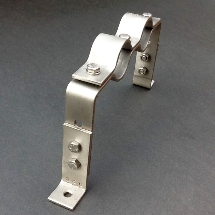 Offset Mechanical Pipe Clamp Bracket 30mm Adjustable Height