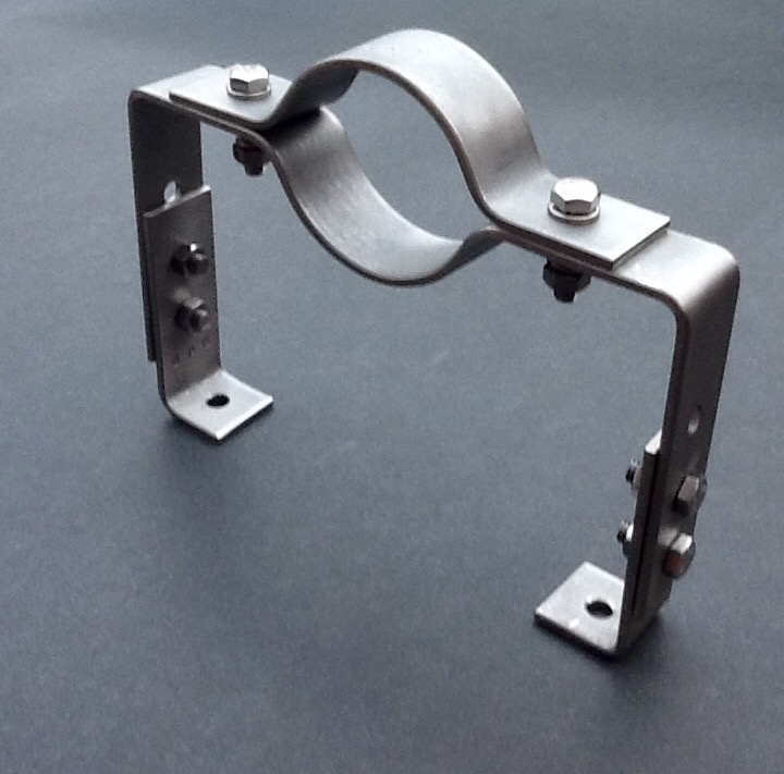Offset Pipe Clamp 60mm Diameter Stainless Steel 316l