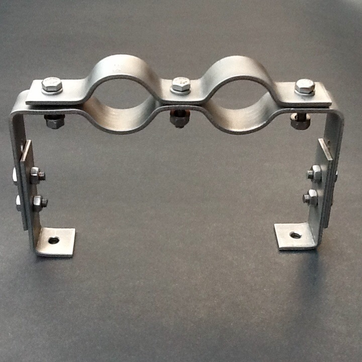 Offset Pipe Clamp Bracket 27mm Adjustable Height Stainless Steel 316L