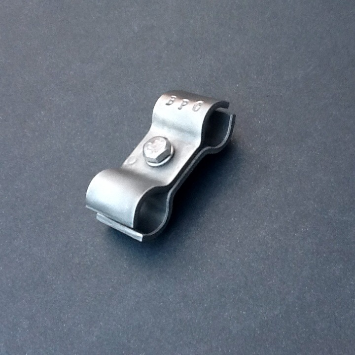 14mm Pipe Clamp Double Ports Stainless Steel 316L