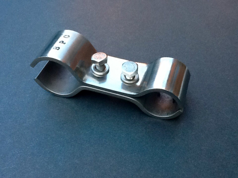 25mm 38mm Pole Clamp Double Size Combination Stainless Steel